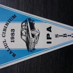 FANION ACR - AUTOMOBIL CLUB ROMAN - RALIUL CIBINIUM 1983 - FILIALA SIBIU