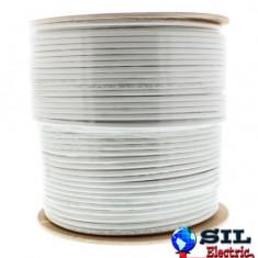 Cablu coaxial RG6, 75R,fire otel cuprat,ecranat cu folie Al+Al&Mg 48X0.12,ola 305m, Well
