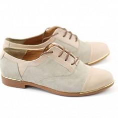 Pantofi dama din piele naturala BEJ - RUT2