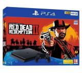 Consola SONY PlayStation 4 Slim 500 GB, Jet Black + joc RED DEAD REDEMPTION 2