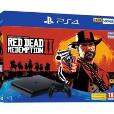 Consola SONY PlayStation 4 Slim 500 GB, Jet Black + joc RED DEAD REDEMPTION 2