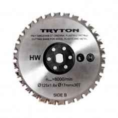Disc pentru metal Tryton, diametru 125 mm, 30 dinti