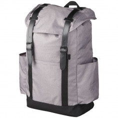 Rucsac Laptop, Everestus, TS, 16 inch, poliester 600D, gri, saculet de calatorie si eticheta bagaj incluse