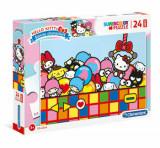 Cumpara ieftin Puzzle Maxi Super Color Hello Kitty, 24 piese, Clementoni