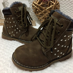 Ghete maro imblanite cu tinte bocanci pantofi sport copii fete 26 27 29 30