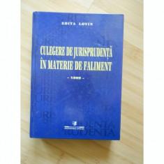 CULEGERE DE JURISPRUDENTA IN MATERIE DE FALIMENT - EDITA LOVIN