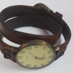 Ceas unisex Xin Feng, cu curea din piele autentica, ceas nefunctional