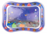 Covor saltea cu apa, centru de activitati pentru bebelusi, model marin, 62x45 cm, albastru inchis, Palmonix