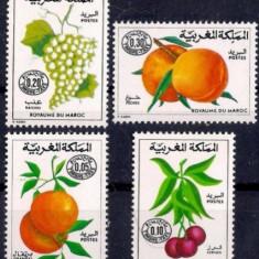Maroc 1974-78 - Porto, fructe, serie neuzata