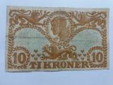 Danemarca-10 Kroner (Coroane)-1943