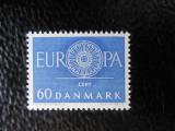 DANEMARCA-EUROPA CEPT 1960-SERIE COMPLETA-NESTAMPILAT