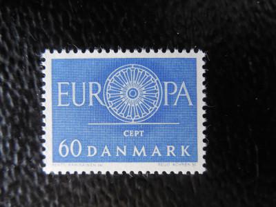 DANEMARCA-EUROPA CEPT 1960-SERIE COMPLETA-NESTAMPILAT foto
