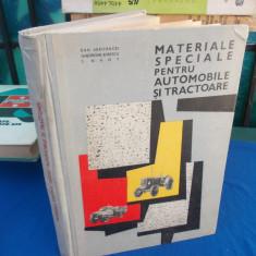 DAN ABAITANCEI - MATERIALE SPECIALE PENTRU AUTOMOBILE SI TRACTOARE , 1966