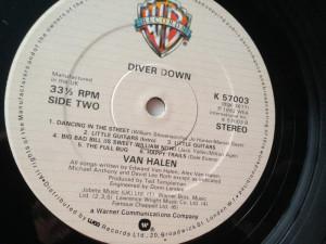 VAN HALEN - DIVER DOWN (1982,WEA,UK) vinil vinyl