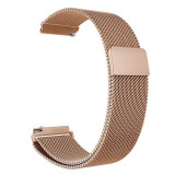 Curea tip Milanese Loop, compatibila ASUS Zenwatch 2 WI502Q, 18mm, Rose Gold
