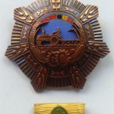 Ordinul MERITUL AGRICOL cu bareta era comunista 1974 Ceausescu -decoratie Rara