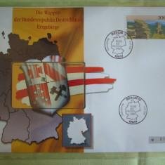 Cartela Telefonica + FDC Germania Erzgebirge - Exponat Numerotat