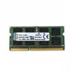 Memorie Laptop - Kingston 8Gb DDR3, PC3-10600, KVR16LS11/8