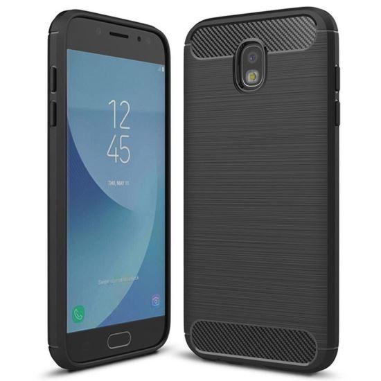 Husa Iberry Armor Carbon Neagra Pentru Samsung Galaxy J3 J330 2017