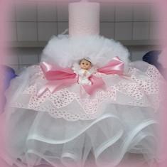 Lumanare de botez pentru fetite si baietei - ROZ2493