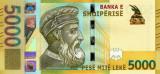 ALBANIA █ bancnota █ 5000 Leke █ 2017 (2019) █ UNC █ necirculata