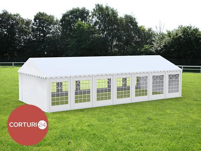 6x14 M CORT EVENIMENTE PROFESIONAL ECONOMY, PVC 500 g/m² ALB