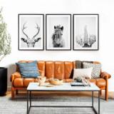 Cumpara ieftin Set 3 tablouri decorative Animals BW, Heinner