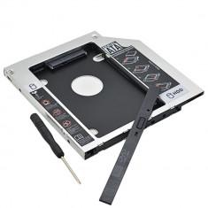 Caddy dvd-rom unitate optica laptop pt hdd SSD / 9.5mm si 12.7mm / NOU