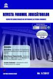 Cumpara ieftin Revista Forumul Judecatorilor - nr. 1 2017