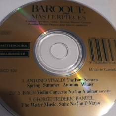 BAROQUE MASTERPIECES - VIVALDI - BACH - HENDEL - CD
