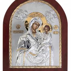 Maica Domnului Indelung Ascultatoare Foita Argint 925 Auriu 100x85mm Cod Produs 1389