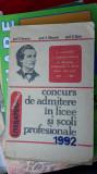 LITERATURA ROMANA CONCURS DE ADMITERE IN LICEE SI SCOLI PROFESIONALE MACARIE
