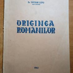 cartea - originea romanilor 1941 de nicolae lupu