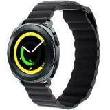 Cumpara ieftin Curea piele Smartwatch Samsung Gear S3, iUni 22 mm Black Leather Loop