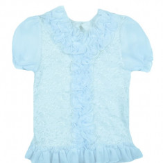 Bluza eleganta maneca scurta fete NN BEF-001, Alb