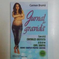JURNAL DE GRAVIDA . CUM SA - TI CONTROLEZI GREUTATEA SI SA AI UN COPIL SANATOS . MENIU COMPLET PENTRU GRAVIDE de CARMEN BRUMA , 2014