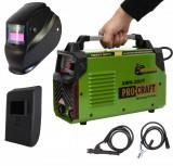 Set Aparat Sudura ProCraft MMA 300A + Masca Automata, Invertor AWH300T