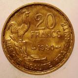 1.647 FRANTA 20 FRANCS FRANCI 1950 XF 3 PENE GEORGES GUIRAUD