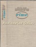 Cumpara ieftin Dictionar De Rime - Nicolae Lazar
