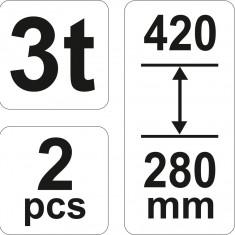 Set capre auto 3T Profesionale YT-17311