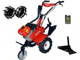 Motocultor Rotakt ROG80-T3, 7 CP, 3 viteze, carcasa transmisie fonta + Plug de arat + Roti metalice + Cadou ulei