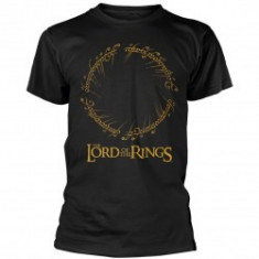 Tricou Unisex The Lord Of The Rings: Ring Inscription Gold