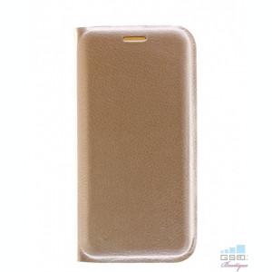 Husa Flip Cover Samsung Galaxy S6 edge G925 Gold