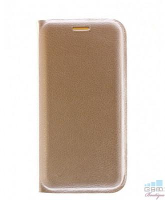 Husa Flip Cover Samsung Galaxy S6 edge G925 Gold foto