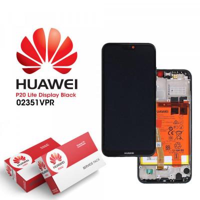 Display Huawei P20 Lite 2018 Cu Rama Si Baterie Original Negru foto