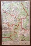 "Harta Brasov-Fagaras-Odorhei-Sf.Gheorghe-Miercurea Ciuc ""Unirea"" Bv 1:1.300.000"