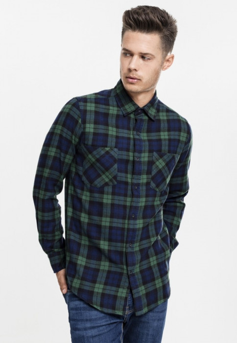 Camasa checked flanell shirt 3 barbati Urban Classics M EU