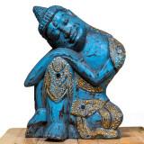 Statuetă Bundle Resting Buddha Turquoise