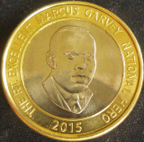 Moneda exotica - bimetal 20 DOLARI - JAMAICA, anul 2015 *cod 703 = A.UNC, America de Nord