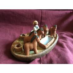 Design / Arta - Figurina / Sfesnic deosebit din ceramica marcaj Rutebo Leksand !